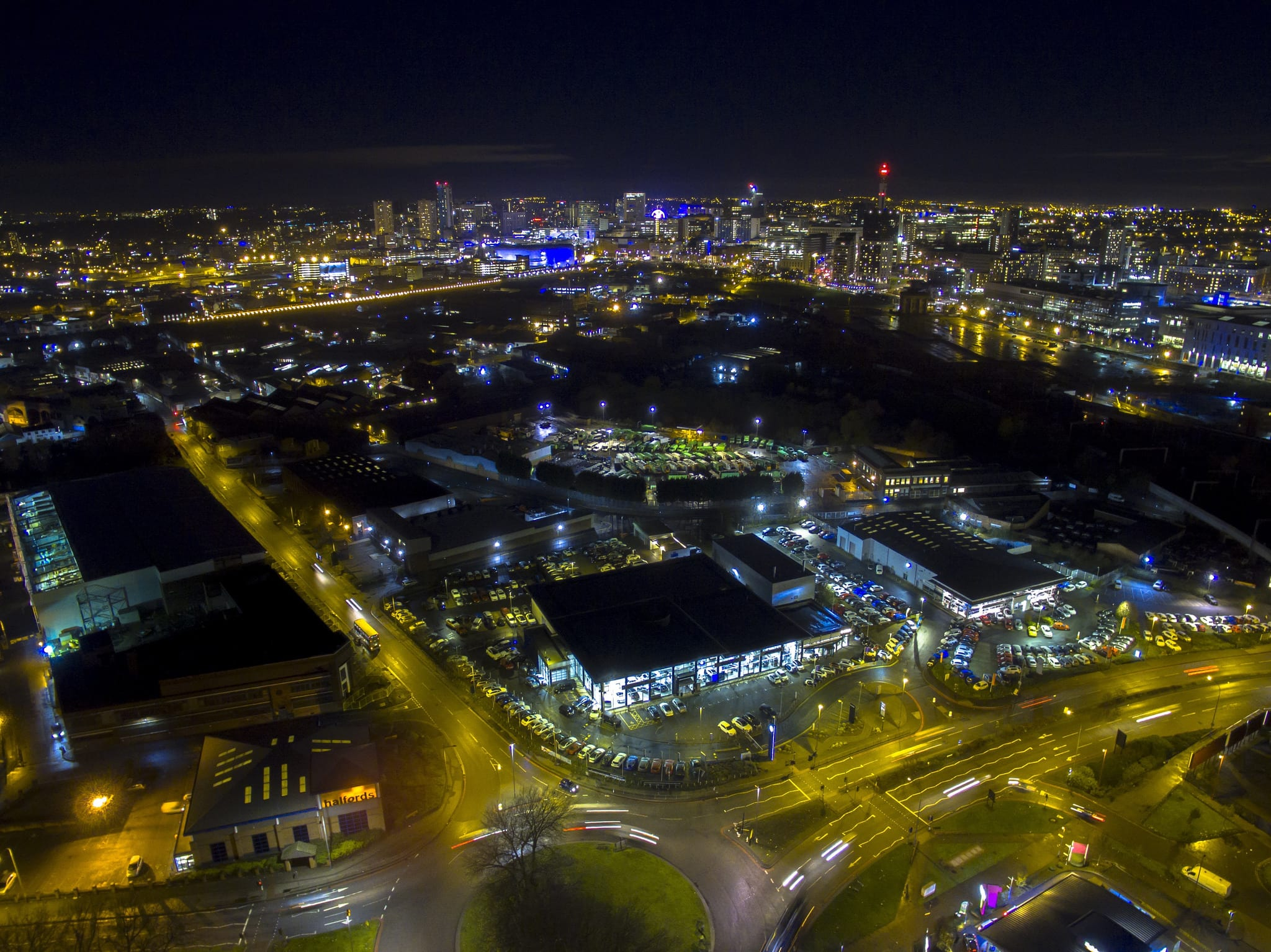 Night Time Photo of Birmingham City Centre
