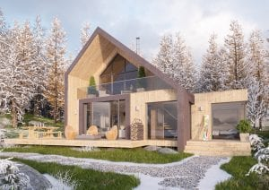 Lodge CGI of Afan Valley Lodge