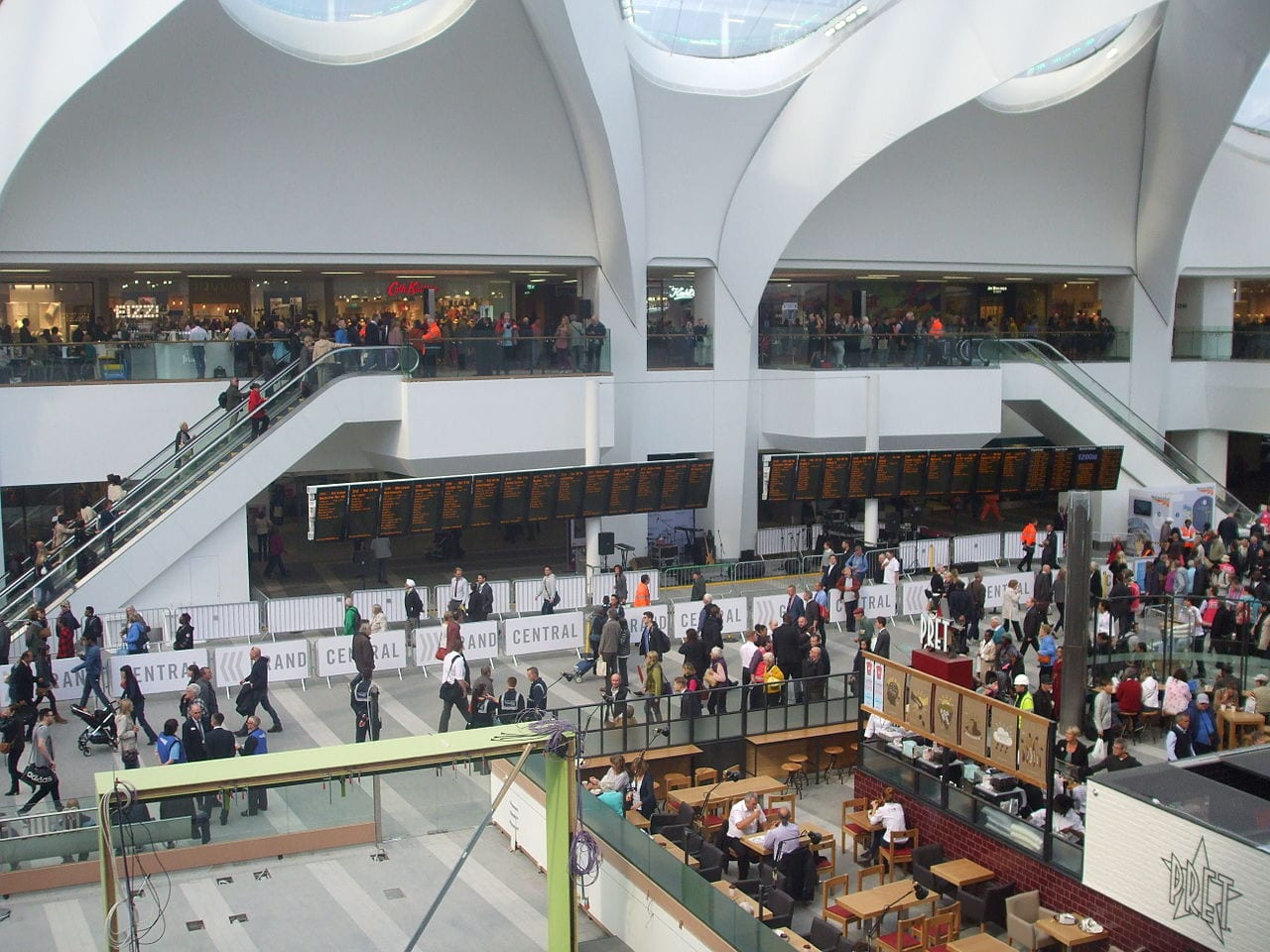 Shopping in Birmingham's new grand central shopping centre
