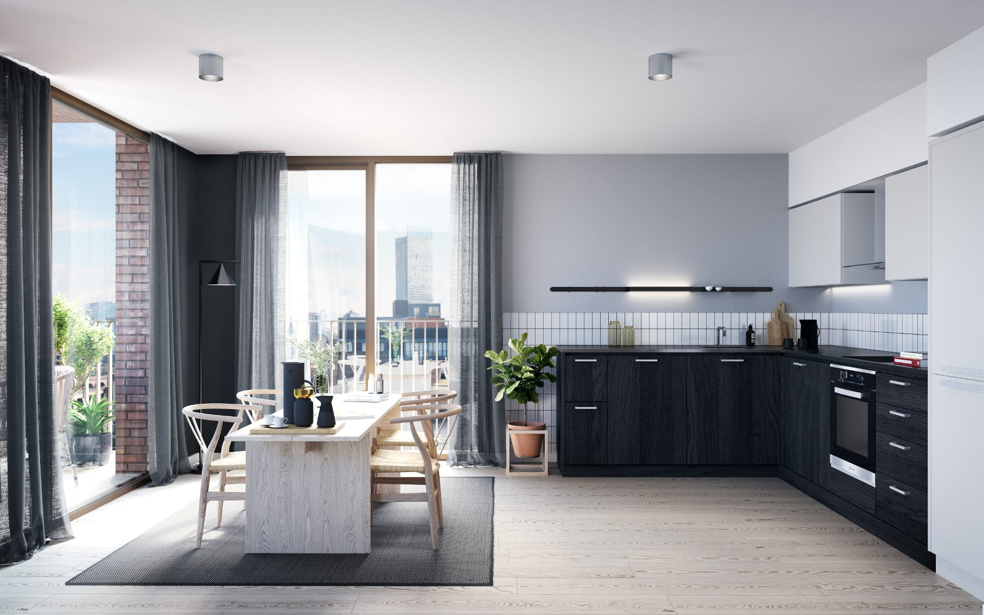 Kitchen CGI Render Excelsior works