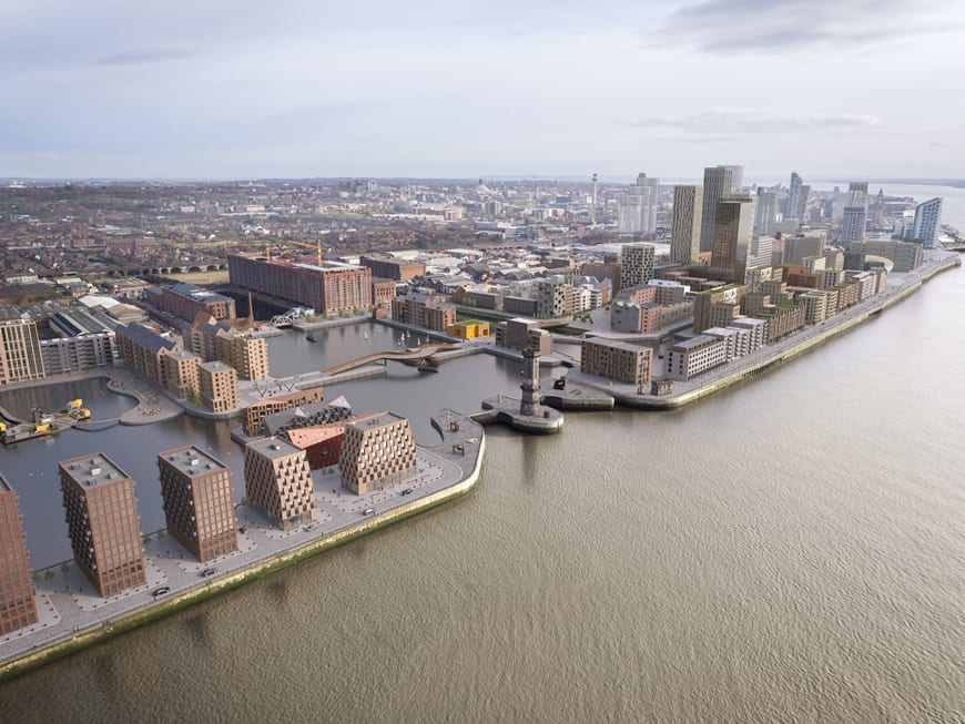 Water front Liverpool CGI