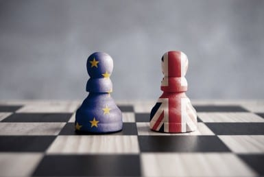 Brexit Game of Chess UK and EU
