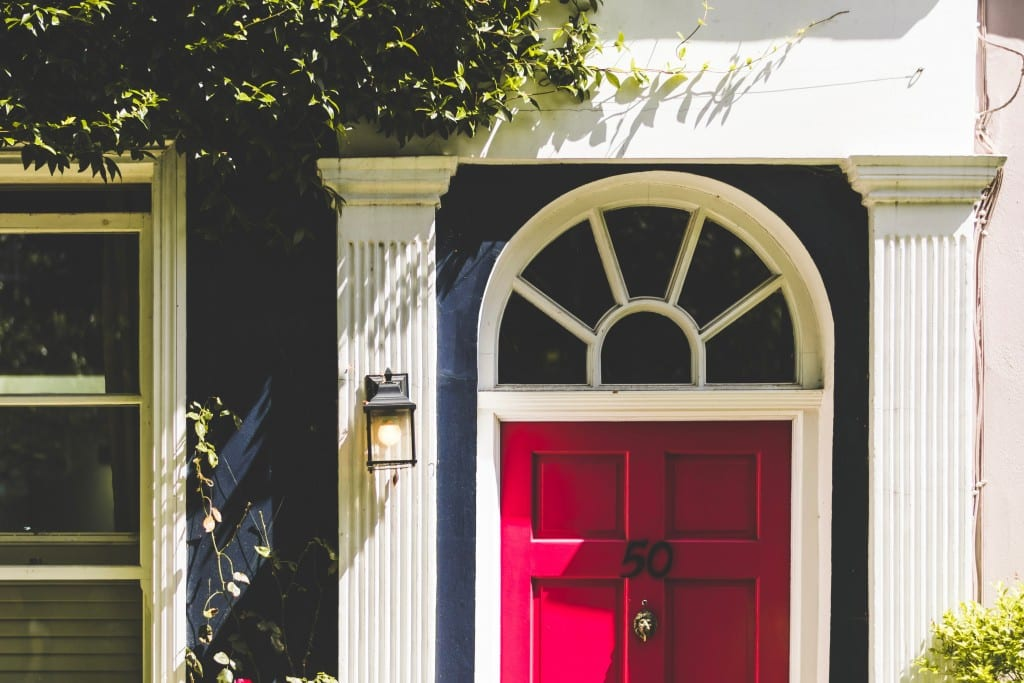 Home with red door