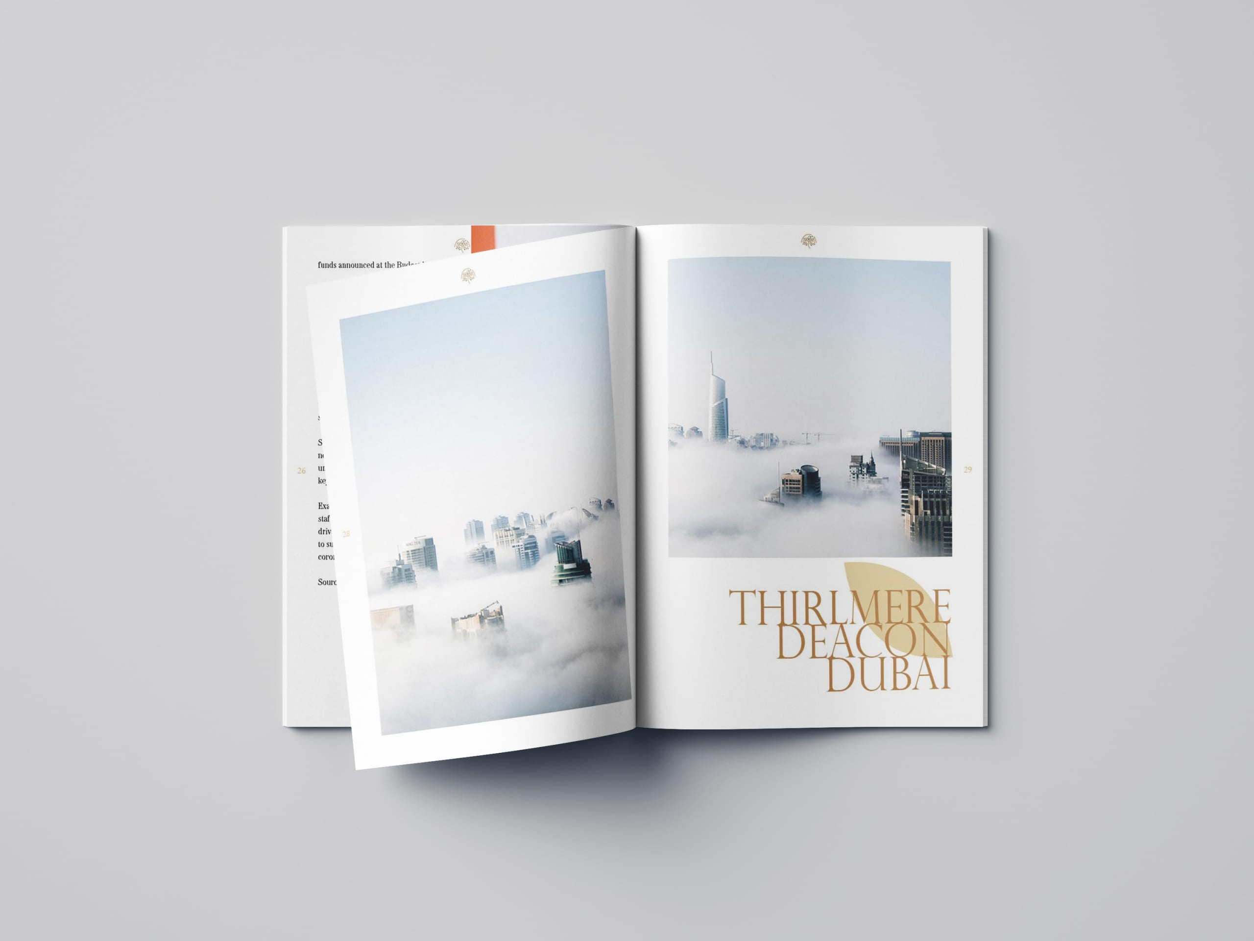 Open pages of the TD property magazine