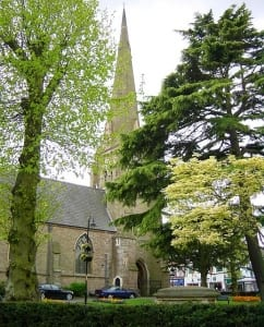 View of St Stephens Church in Redditch
