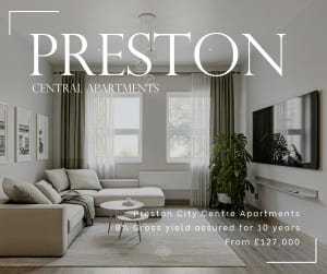 Preston central apaetments advert image