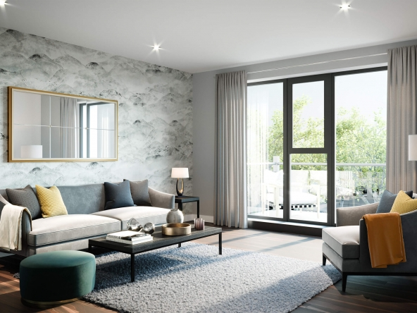Bracknell Residences Living Room CGI